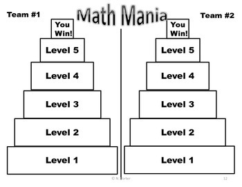 Math Review Game { End of the year }
