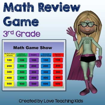 Math Review Game- 3rd Grade Test Prep