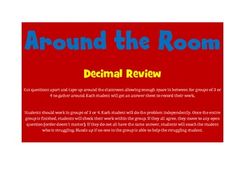 Math Review Game (Around the Room: Decimal Review)