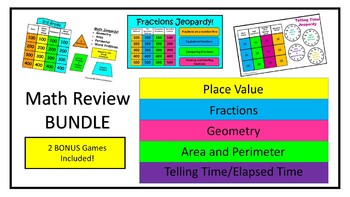 Math Review Game BUNDLE