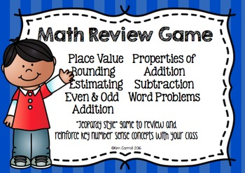 Math Review Game {Place Value, Addition, Subtraction}