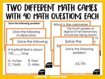 Math Review Game Show ~ Let's Make a Deal {4th Grade Common Core Aligned}