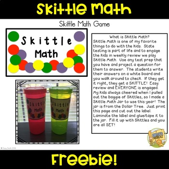 Math Review Game - Skittle Math