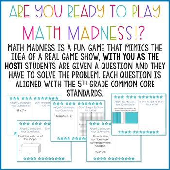 A Test Prep + End of Year Math Review Game for 5th Graders {Math Madness}