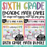 Math Review Game for 6th Grade Common Core Test Prep {BUNDLE}