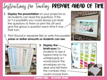 Math Review Game for 6th Grade Test Prep {VERSION 2-Let's Make a Deal}