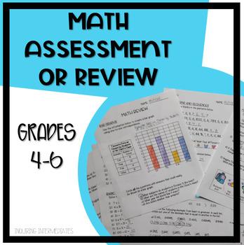 Intermediate Math Assessment or Review - Grades 4-6