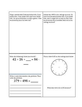 Math Review/Homework/Morning Work