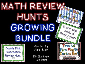 Math Review Hunt GROWING Bundle!