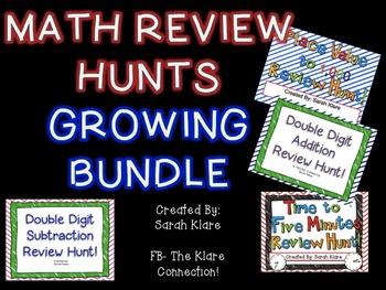 Math Review Hunt GROWING Bundle!