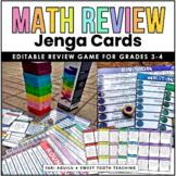 Math Review Jenga Game | EDITABLE