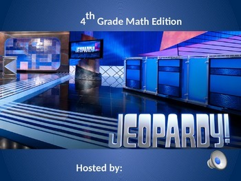 Math Review Jeopardy - Common Core Aligned - FREEBIE