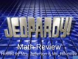 Math Review Jeopardy Game - Place Value, Add/Subtract, Wor