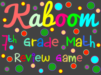 7th Grade Math Review Game - Kaboom