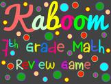 7th Grade Math Review Game - Kaboom
