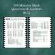 Math Review- Monster Math Cards!