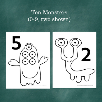 Math Review- Monster Math Cards!