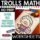 Terrific TROLLS Math 1st Grade Morning Work - First Grade NO PREP