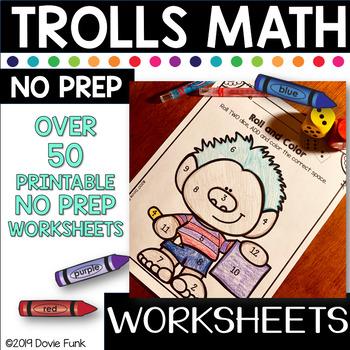 Terrific Trolls Math 1st Grade Morning Work First Grade No Prep
