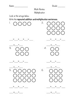 Math Review: Multiplication