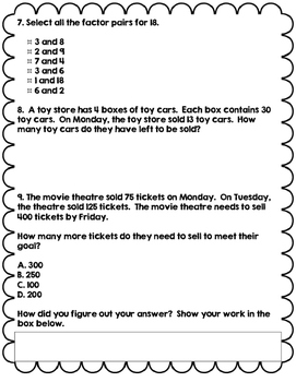 Math Review Multiplication and Division
