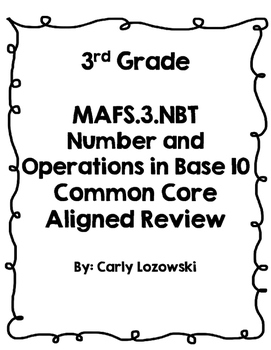 Math Review Number & Operations in Base 10