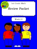 Math Review - Numbers 100-120, Place Value, Double Digits - Week 21