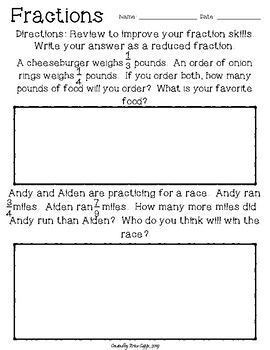 Math Review: Operations with Fractions & Decimals