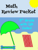 Math Review Packet - 5th Grade - with QR Codes! NO PREP! Common Core Aligned