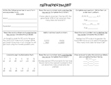 Math Review Project (Addition, Subtraction, Multiplication