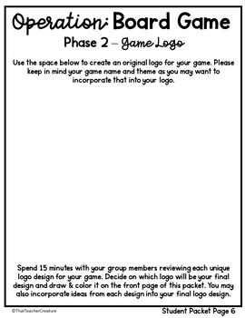 Math Review Project - Game Board Creation (PBL)