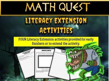 Math Review Quest - Escape Monster Mansion (EASY)