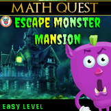 Escape Monster Mansion - Math Quest - End of Year Math Review (EASY)