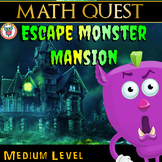 Escape Monster Mansion - Math Quest - End of Year Math Review (MEDIUM)