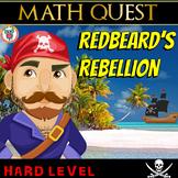 Pirate Math Review Quest  - Redbeard's Rebellion (HARD)