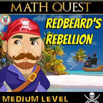 Pirate Math Review Quest - Redbeard's Rebellion (MEDIUM)