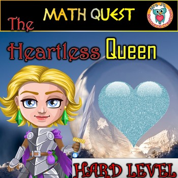 Valentine's Day Math Review Quest: The Heartless Queen (HARD LEVEL)