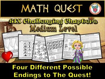 Math Review Quest - The Heartless Queen (MEDIUM LEVEL)