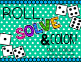 Math Review-Roll, Solve, And Color