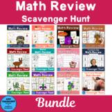 Math Review Scavenger Hunt Bundle