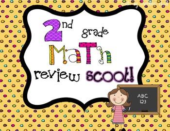 Math Review Scoot! 2nd Grade {Freebie}