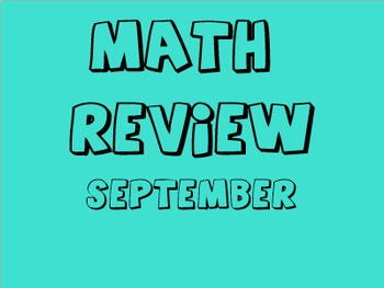 Math Review - September