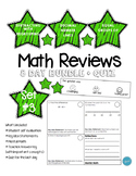Math Review Set #3 (8 day bundle + Quiz)