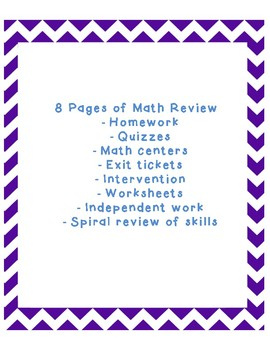 """Math Review: """"Show What You Know!"""""""