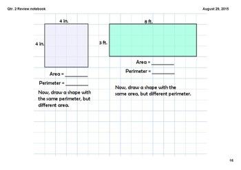 Math Review Smartboard Slides