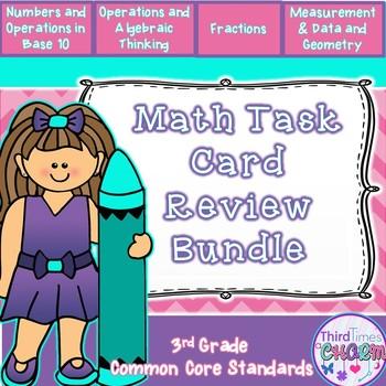 Math Review Task Card Bundle