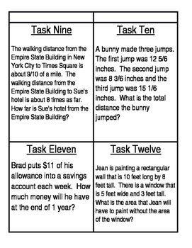 Math Review Task Cards 4