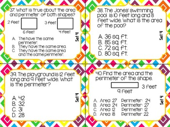 Math Review Task Cards Super Bundle