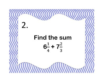 Math Review Task cards (Sixth Grade)