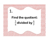 Math Review Task cards (Sixth Grade)